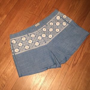 Madewell Other - Madewell Embroidered Chambray Shorts